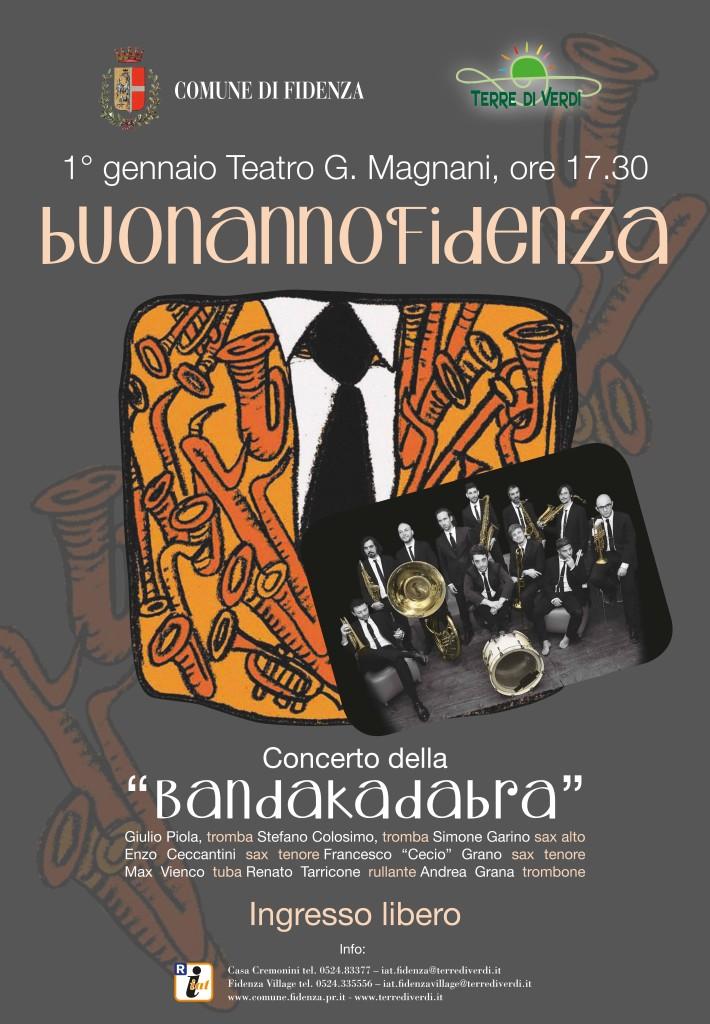 Capodanno a Fidenza con la Bandakadabra
