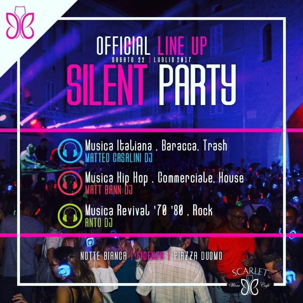 line up silent party