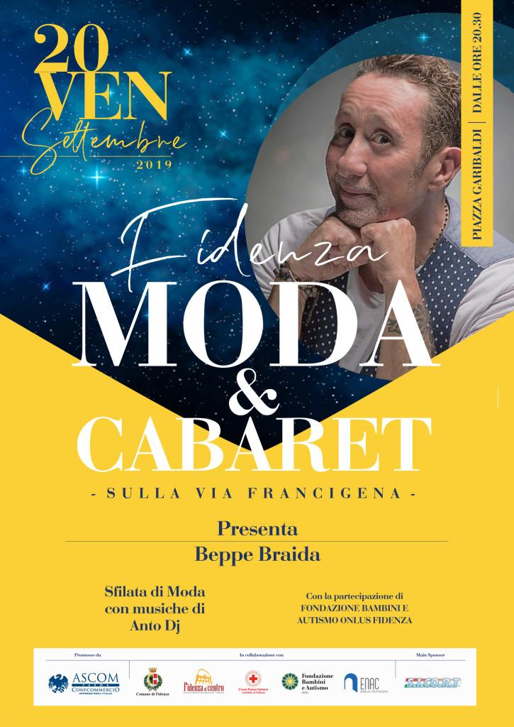 Fidenza sfilata moda sett 2019 - volantino A5 low