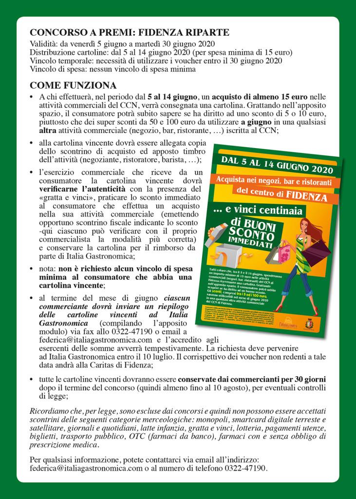 FIDENZA A5 volantini regolamento